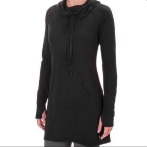 Yogalicious Black Hooded Long Tunic Dress XL